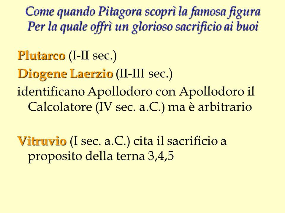 Come quando Pitagora scoprì la famosa figura Per la quale offrì un glorioso sacrificio ai buoi