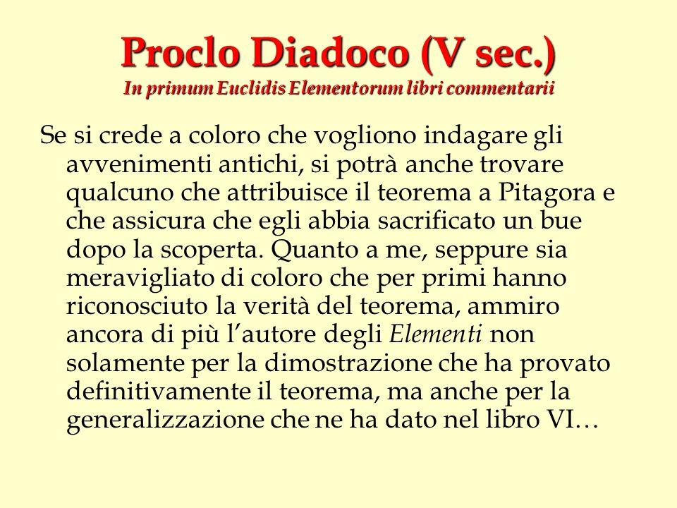 Proclo Diadoco (V sec.) In primum Euclidis Elementorum libri commentarii