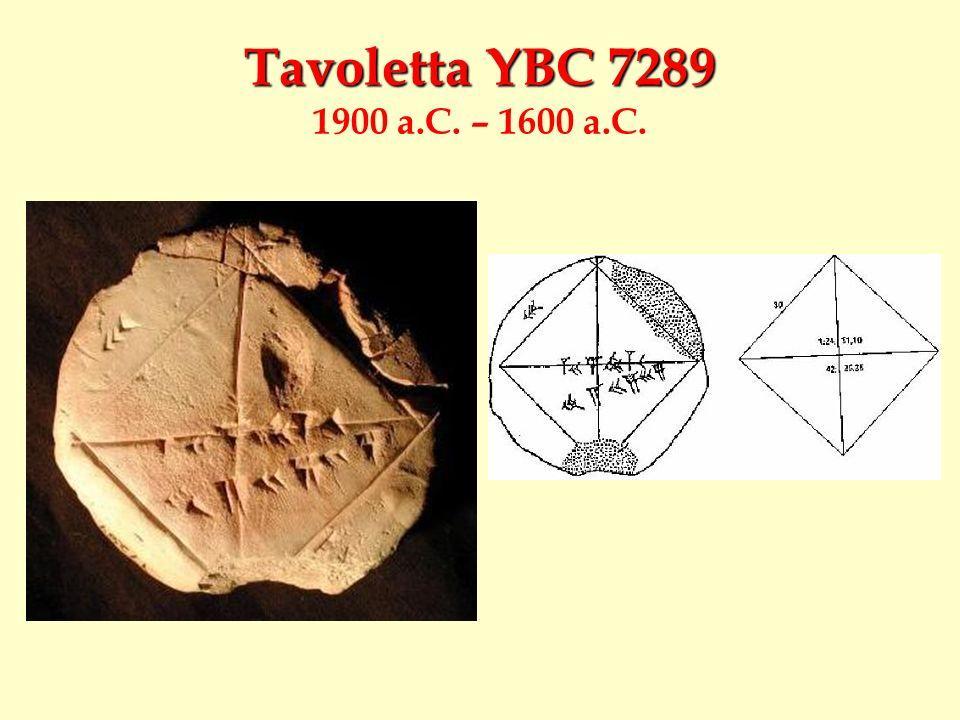 Tavoletta YBC 7289 1900 a.C. – 1600 a.C.