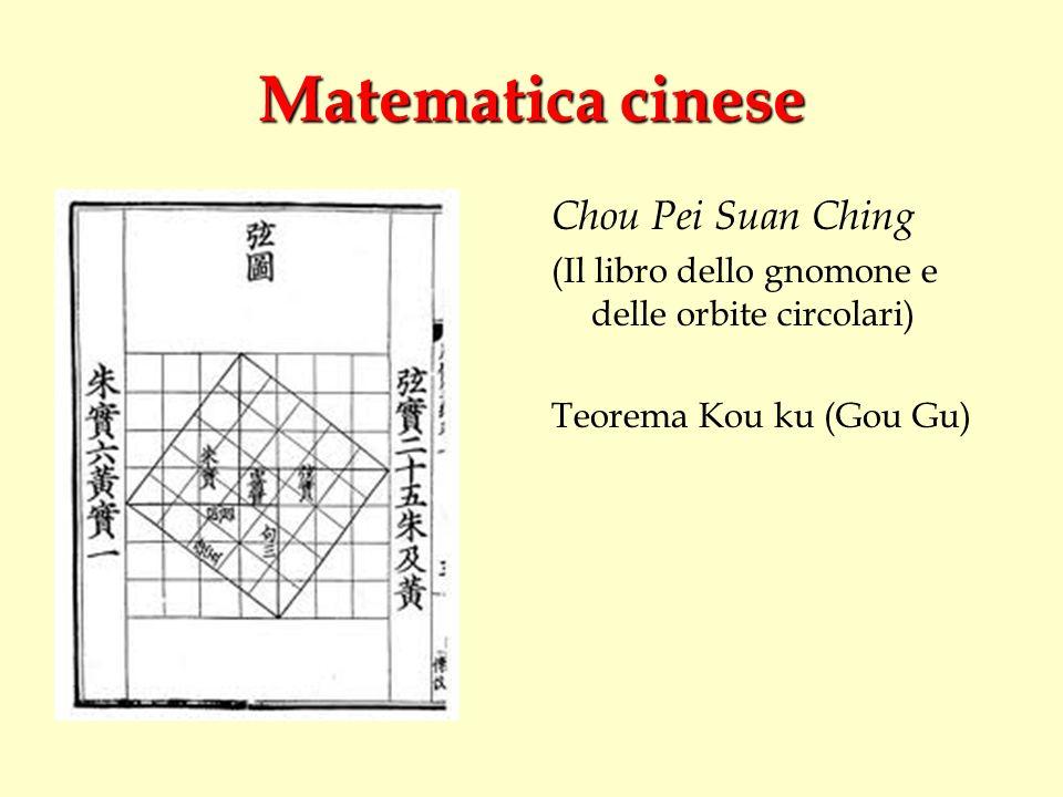 Matematica cinese Chou Pei Suan Ching
