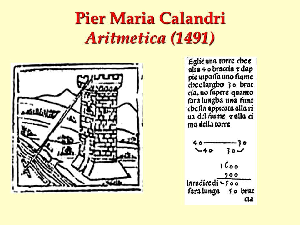 Pier Maria Calandri Aritmetica (1491)