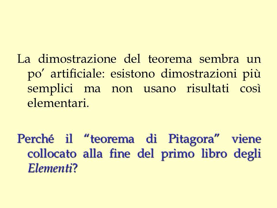 La dimostrazione del teorema sembra un po' artificiale: esistono dimostrazioni più semplici ma non usano risultati così elementari.