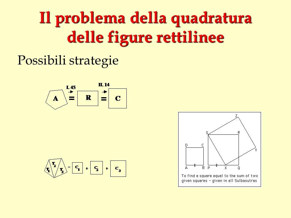 Il problema della quadratura delle figure rettilinee