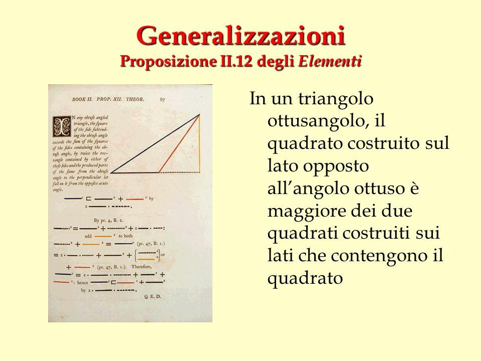 Generalizzazioni Proposizione II.12 degli Elementi