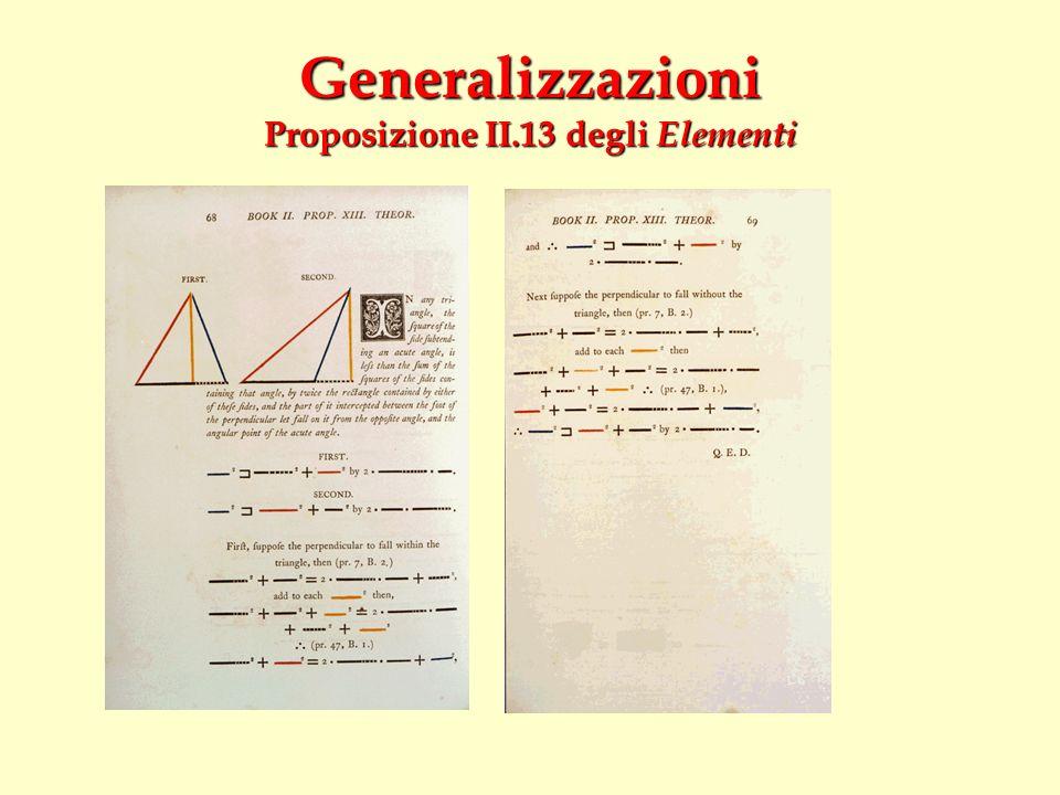 Generalizzazioni Proposizione II.13 degli Elementi