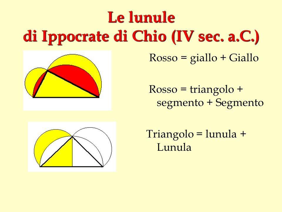 Le lunule di Ippocrate di Chio (IV sec. a.C.)