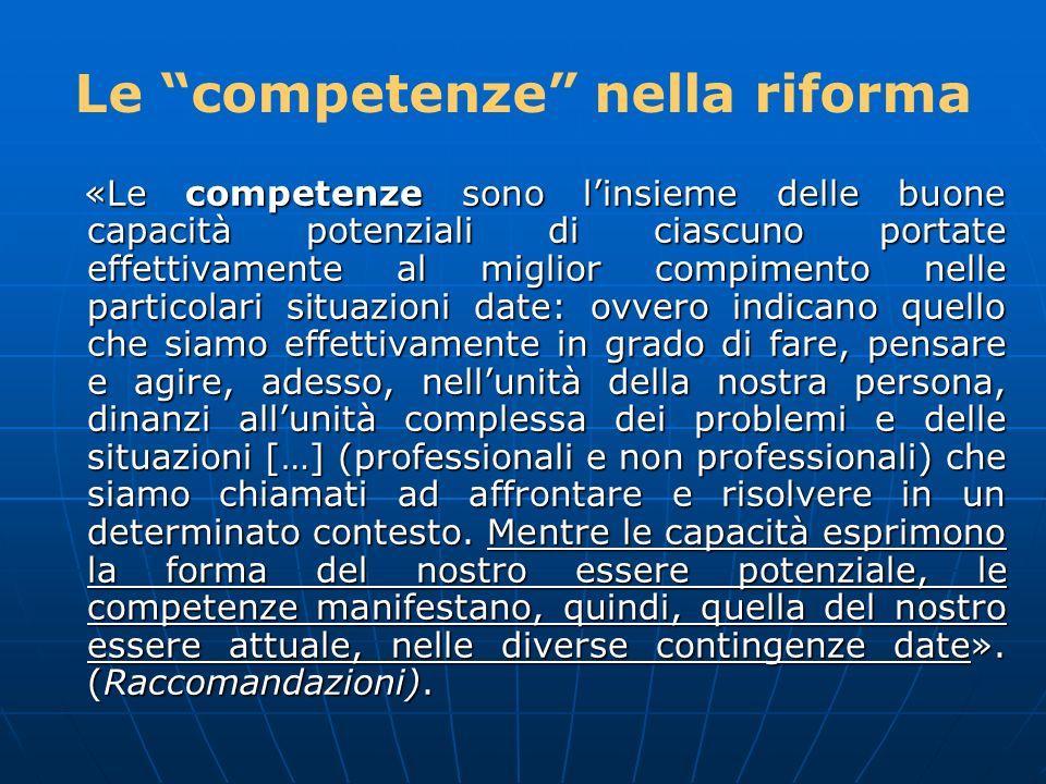 Le competenze nella riforma