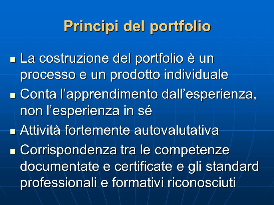 Principi del portfolio