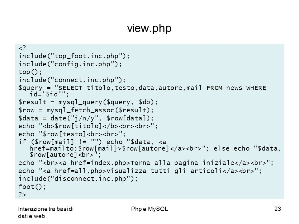 view.php < include( top_foot.inc.php ); include( config.inc.php );