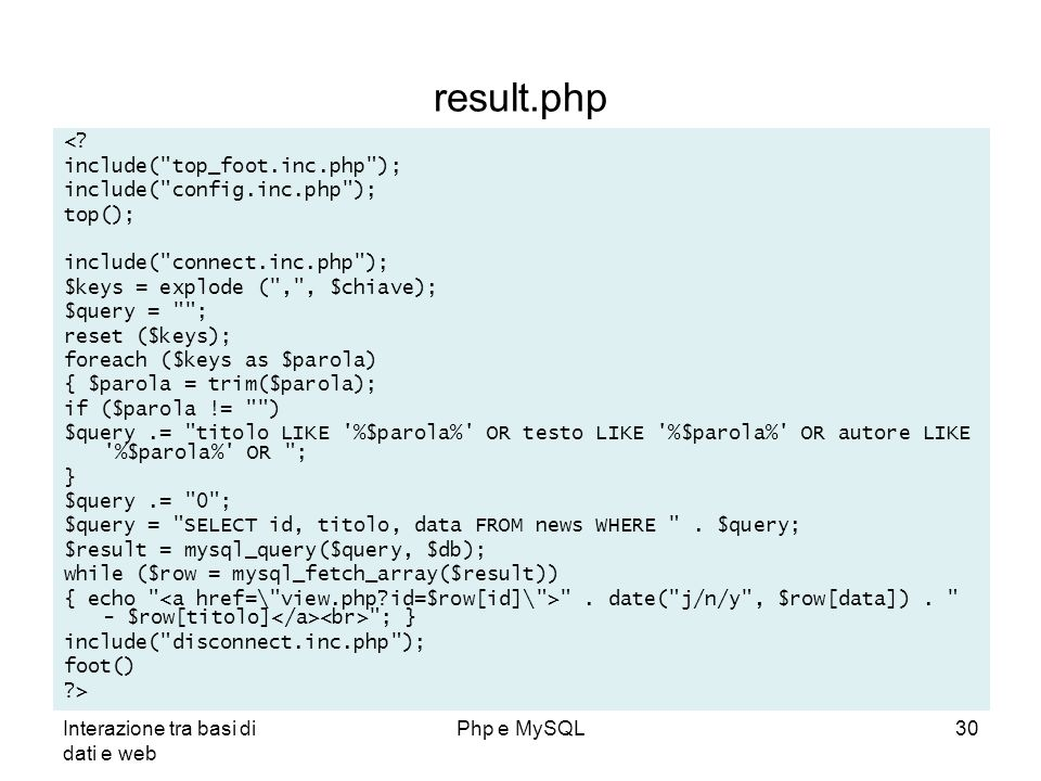 result.php < include( top_foot.inc.php );