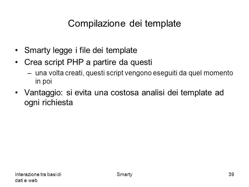 Compilazione dei template