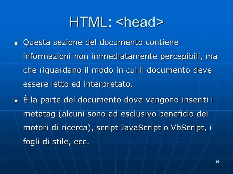HTML: <head>