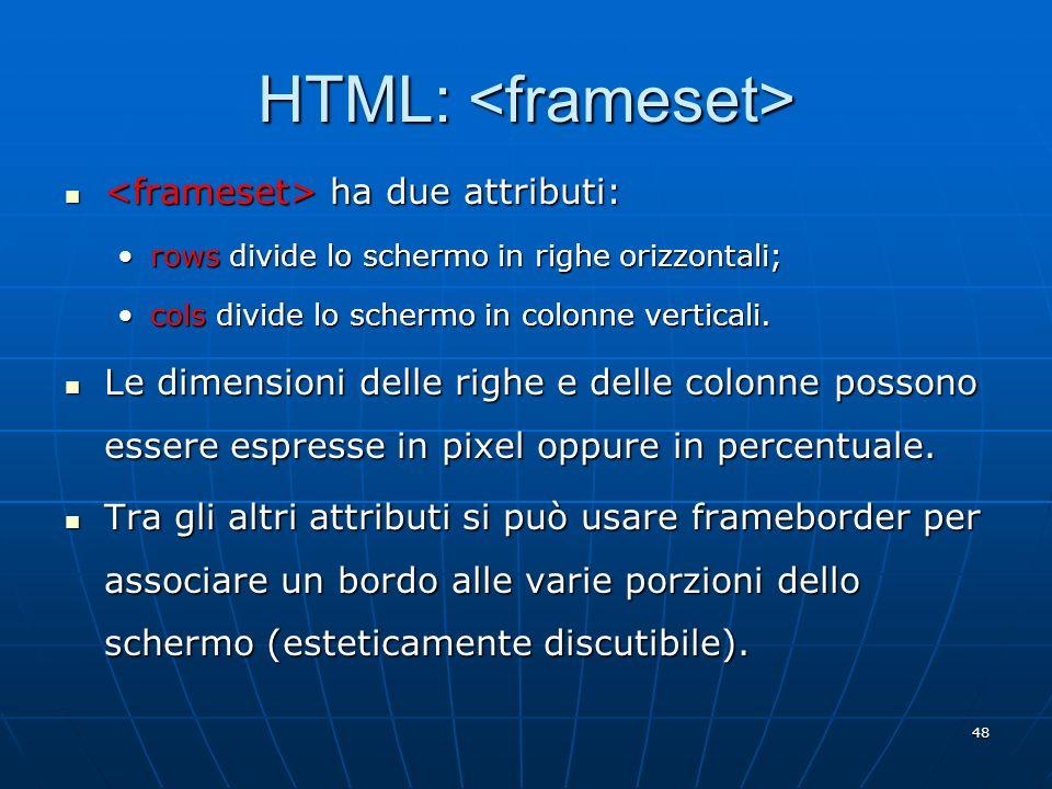 HTML: <frameset>