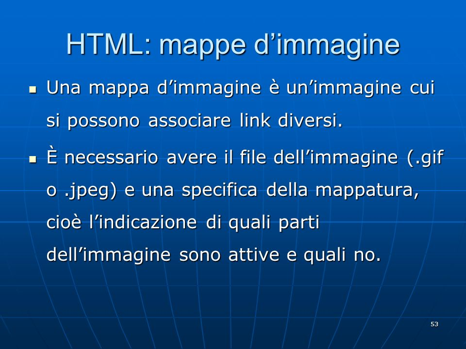 HTML: mappe d'immagine