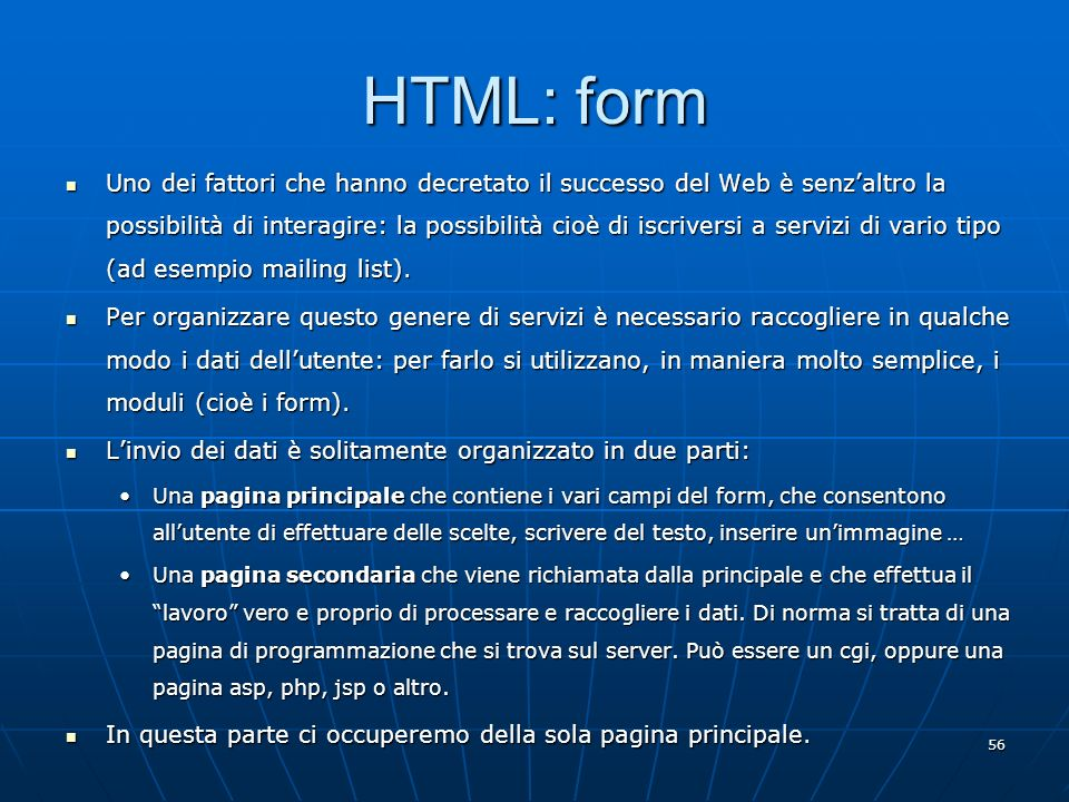 HTML: form