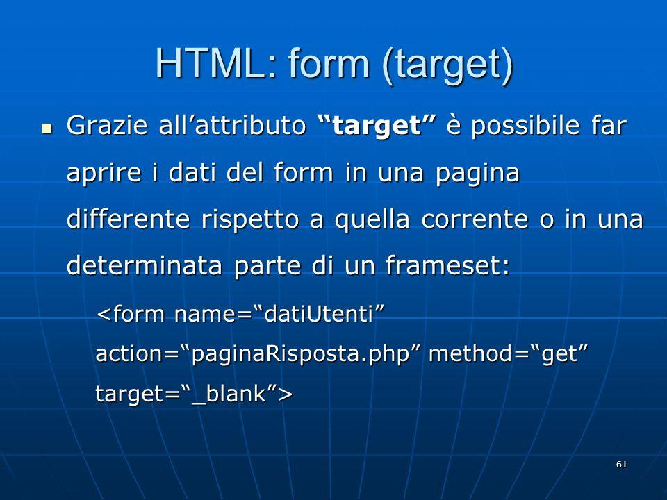HTML: form (target)