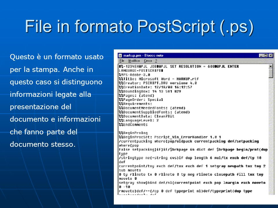 File in formato PostScript (.ps)