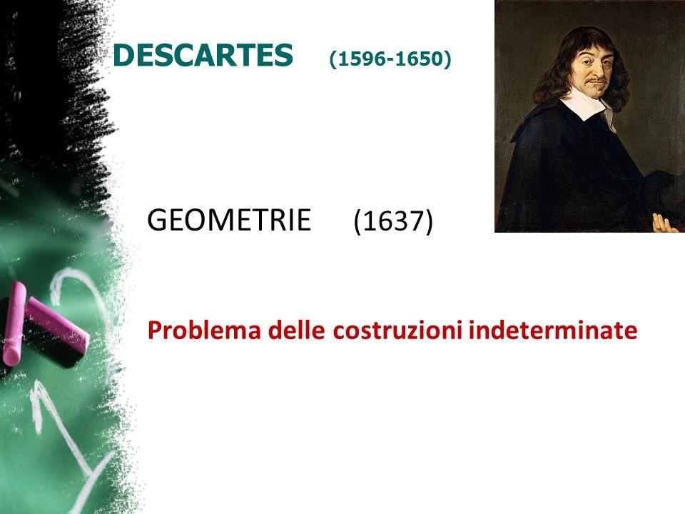 GEOMETRIE (1637) DESCARTES (1596-1650)