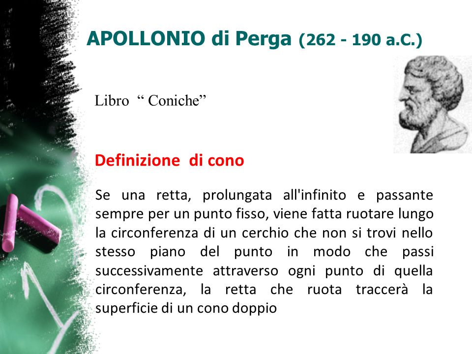 APOLLONIO di Perga (262 - 190 a.C.)