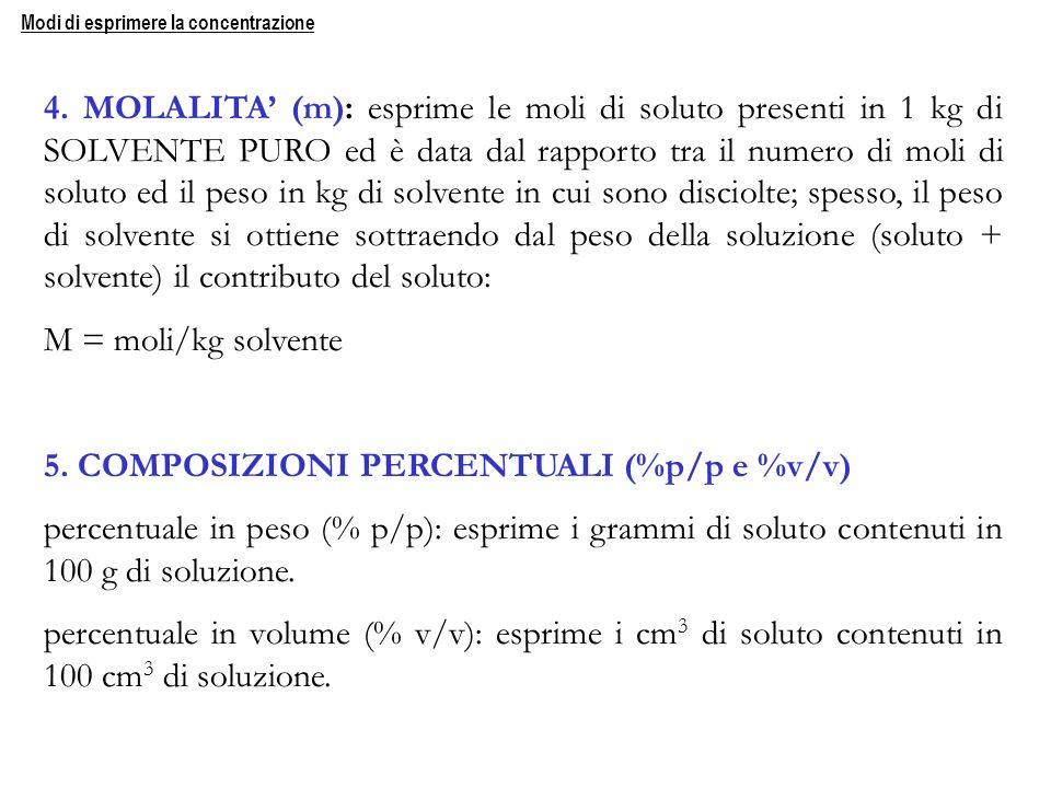 5. COMPOSIZIONI PERCENTUALI (%p/p e %v/v)