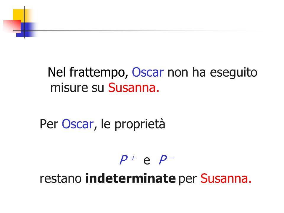 Nel frattempo, Oscar non ha eseguito misure su Susanna.