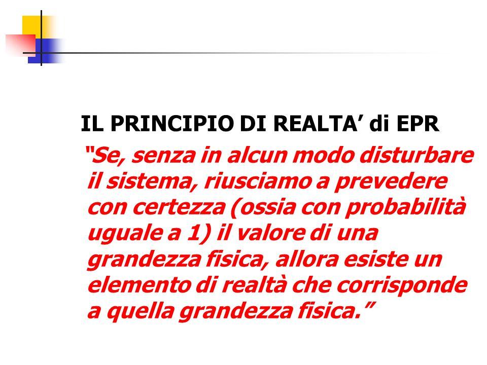 IL PRINCIPIO DI REALTA' di EPR