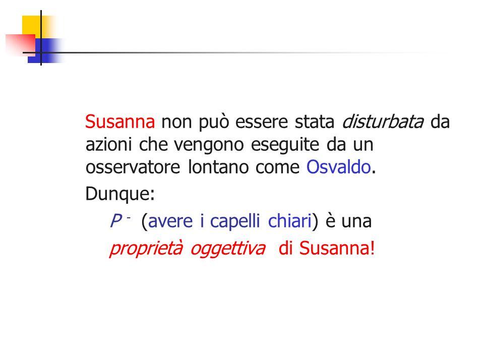 Susanna non può essere stata disturbata da azioni che vengono eseguite da un osservatore lontano come Osvaldo.