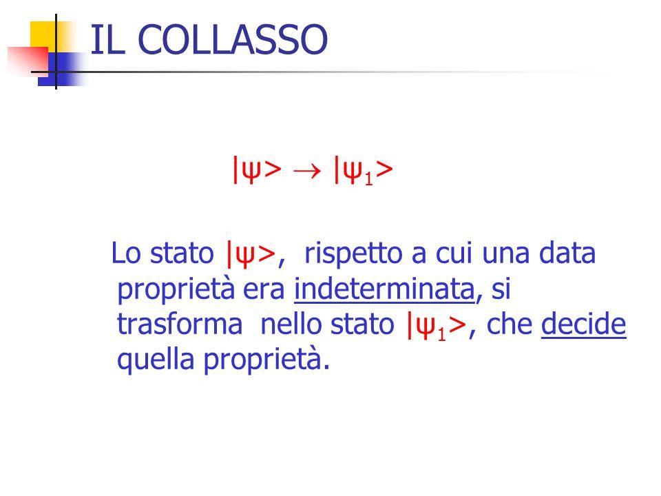 IL COLLASSO |ψ>  |ψ1>