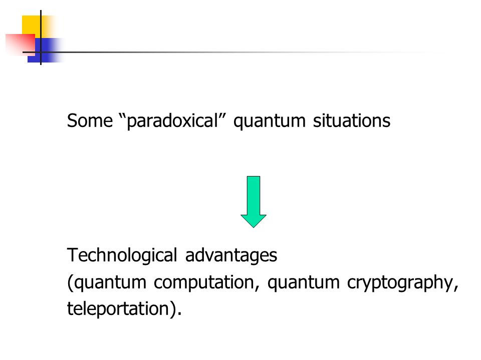 Some paradoxical quantum situations