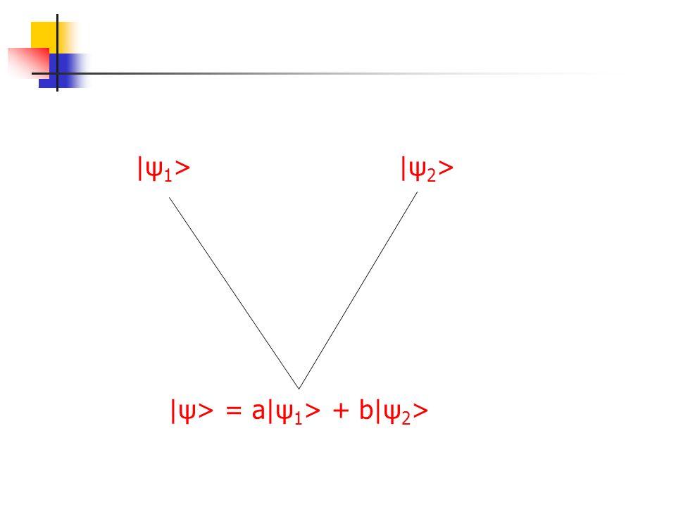 |ψ1> |ψ2> |ψ> = a|ψ1> + b|ψ2>