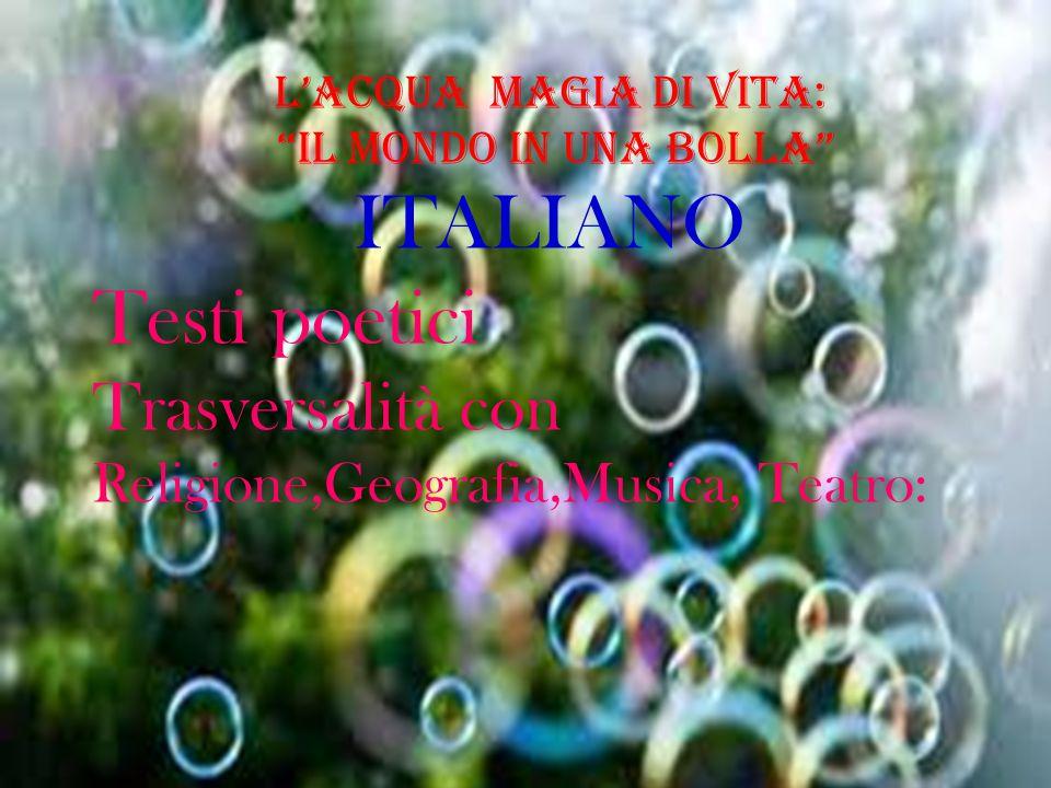 ITALIANO Testi poetici Trasversalità con