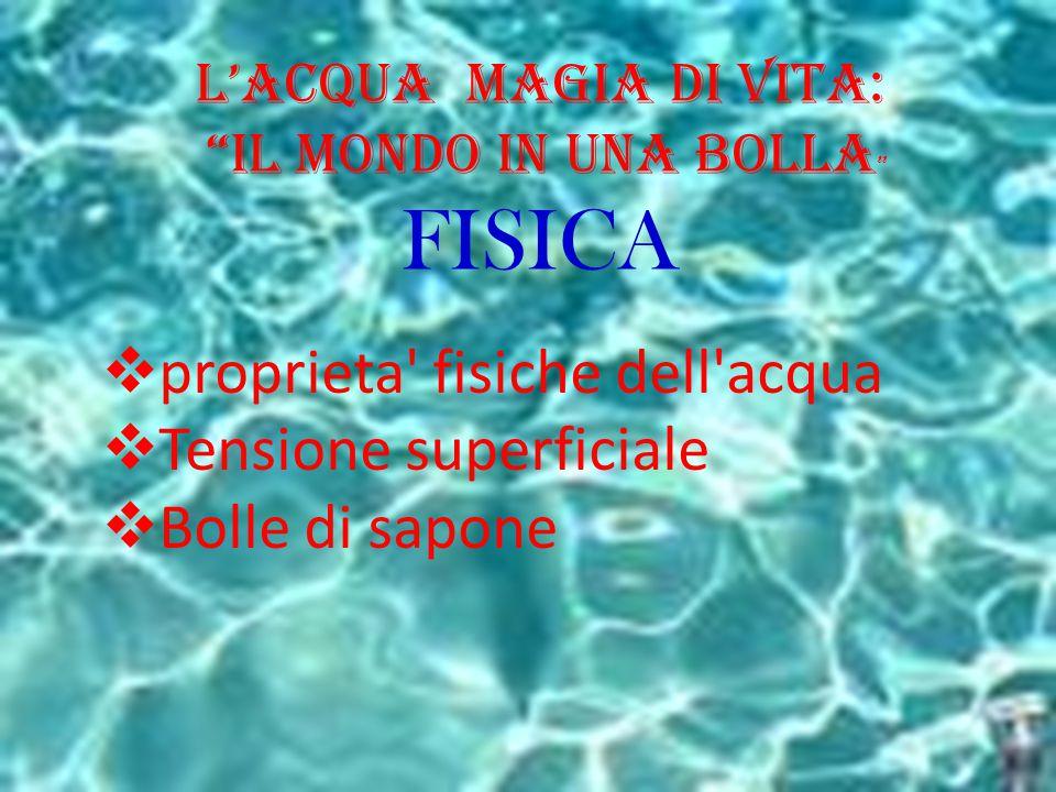 FISICA proprieta fisiche dell acqua Tensione superficiale