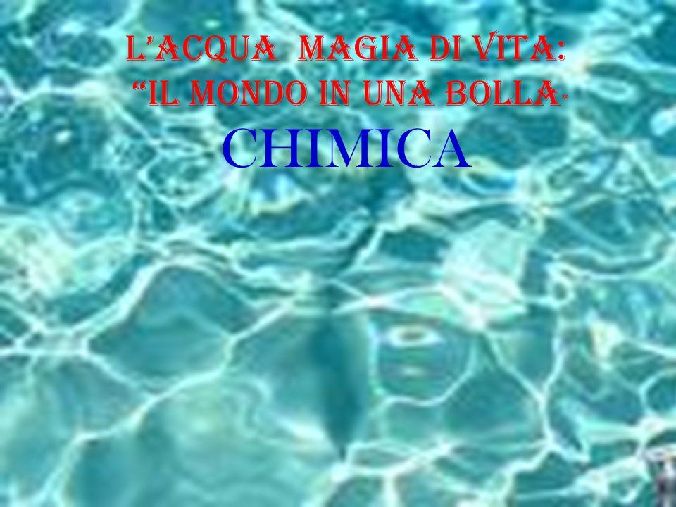 L'Acqua Magia di Vita: il Mondo in una BOLLA CHIMICA