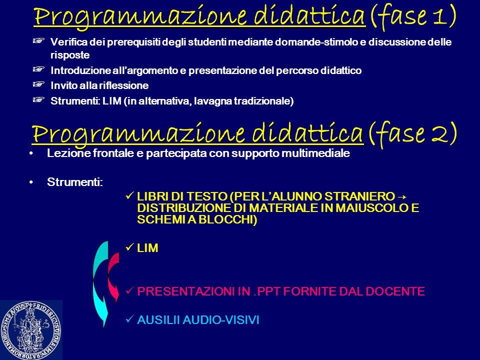Programmazione didattica(fase 1)