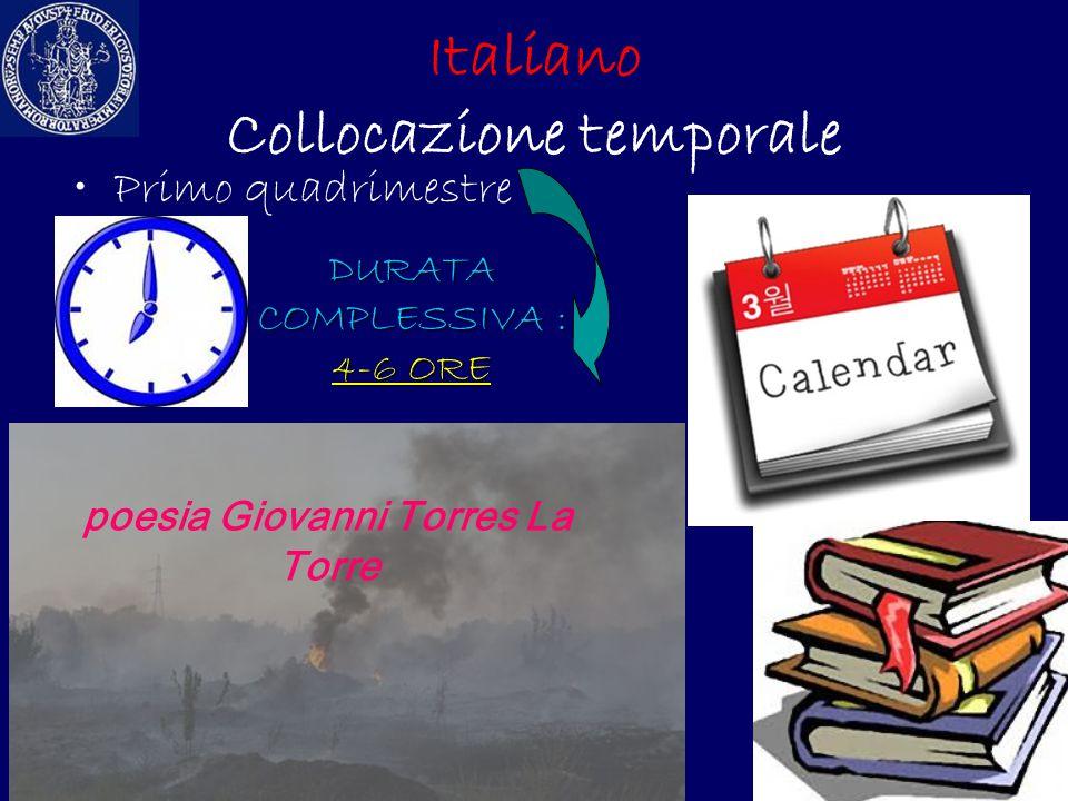 Italiano Collocazione temporale