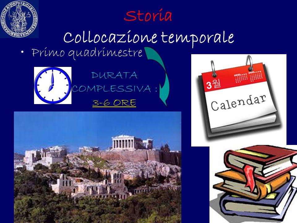 Storia Collocazione temporale