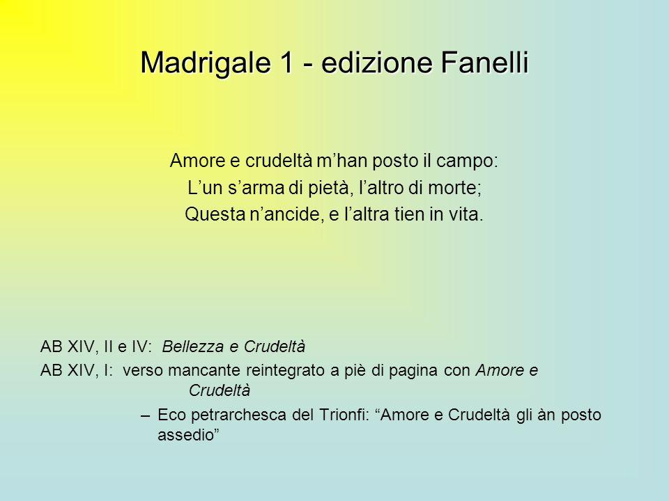 Madrigale 1 - edizione Fanelli