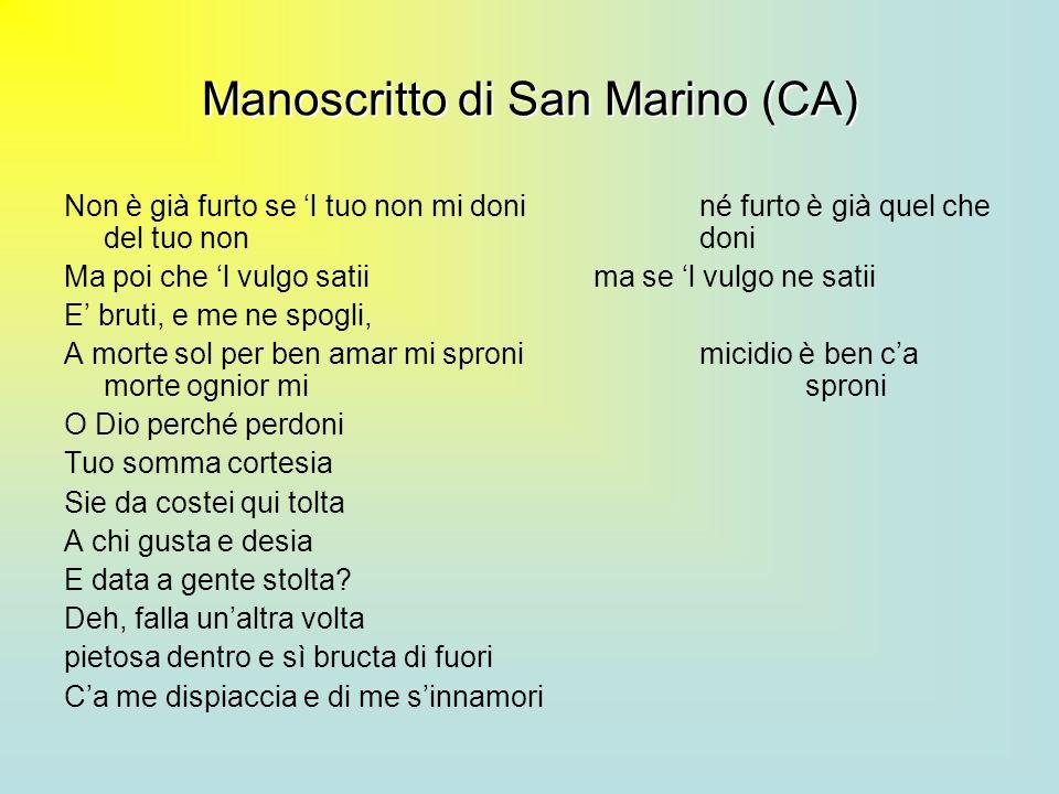 Manoscritto di San Marino (CA)