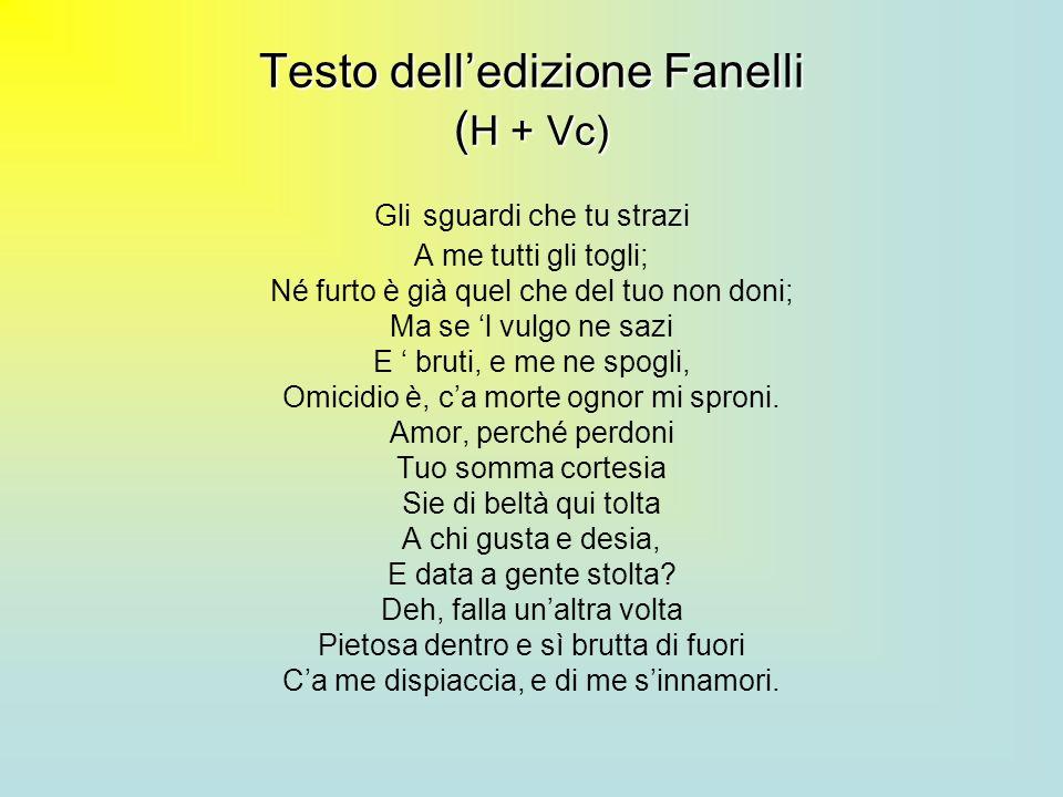 Testo dell'edizione Fanelli (H + Vc)
