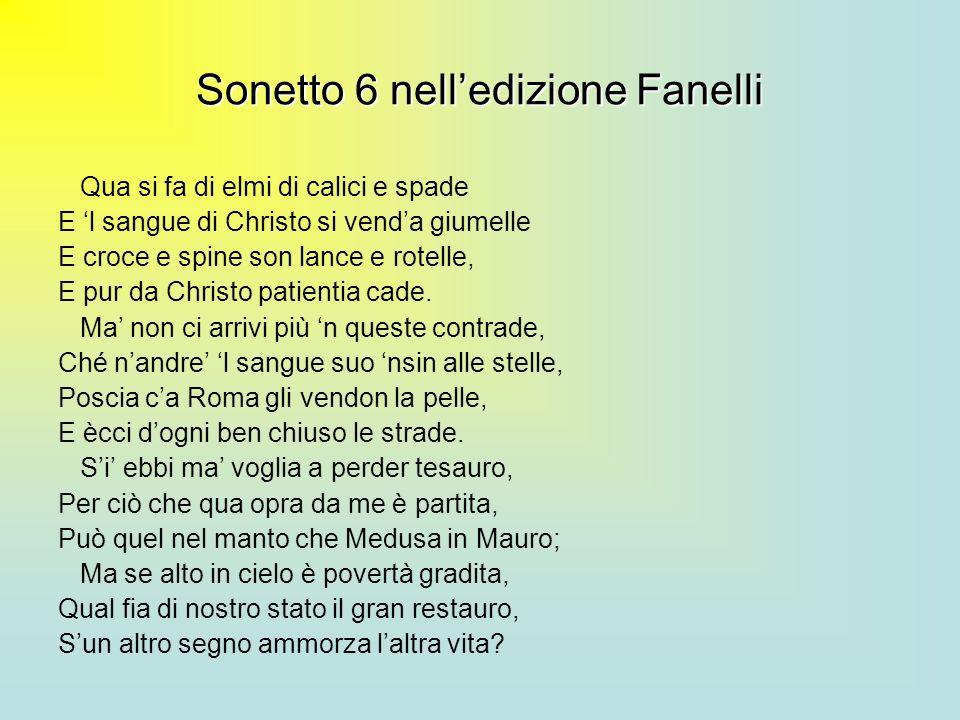 Sonetto 6 nell'edizione Fanelli