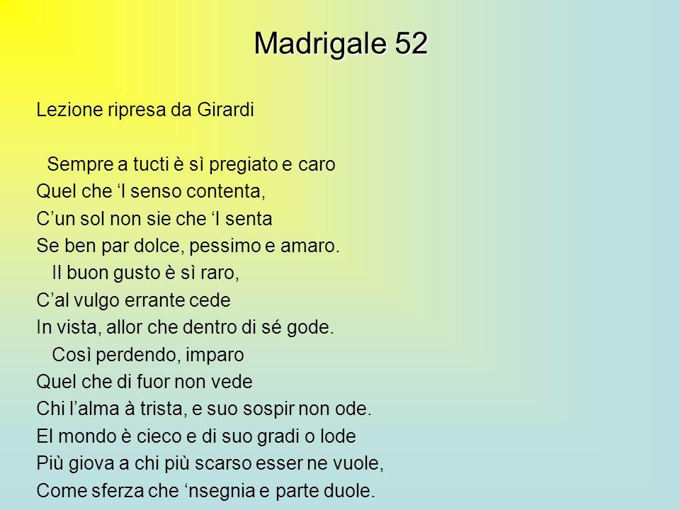 Madrigale 52 Lezione ripresa da Girardi