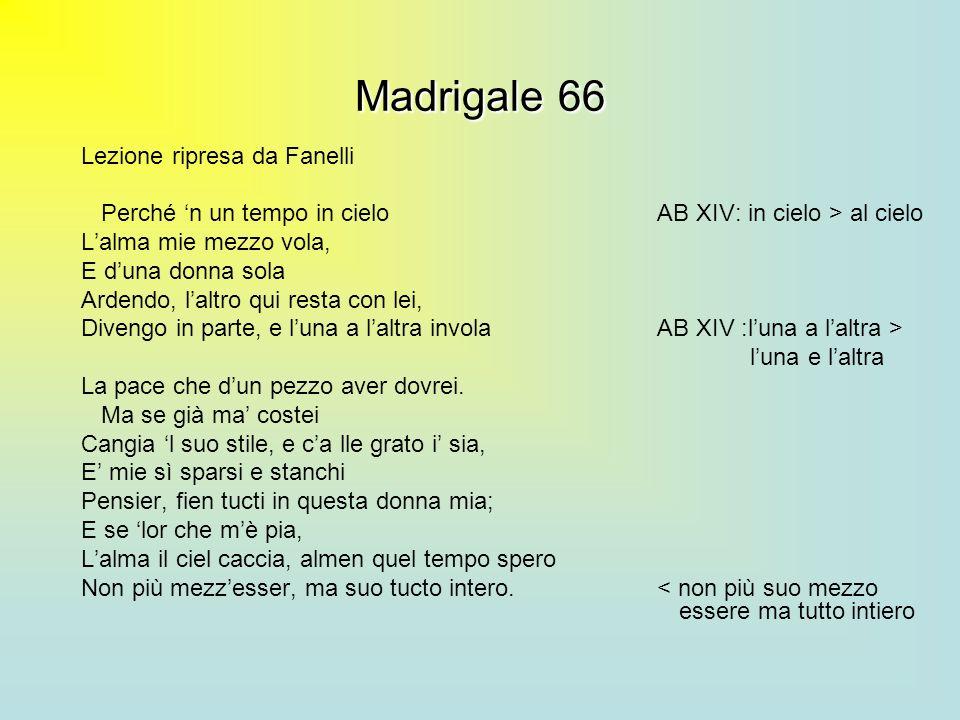 Madrigale 66 Lezione ripresa da Fanelli