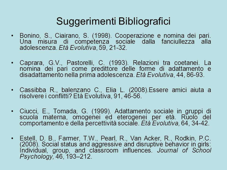 Suggerimenti Bibliografici
