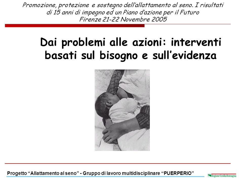 Promozione, protezione e sostegno dell'allattamento al seno