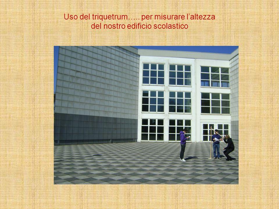 Uso del triquetrum….. per misurare l'altezza del nostro edificio scolastico