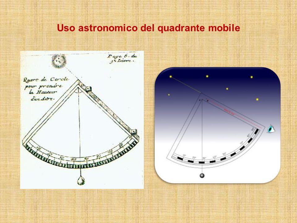 Uso astronomico del quadrante mobile