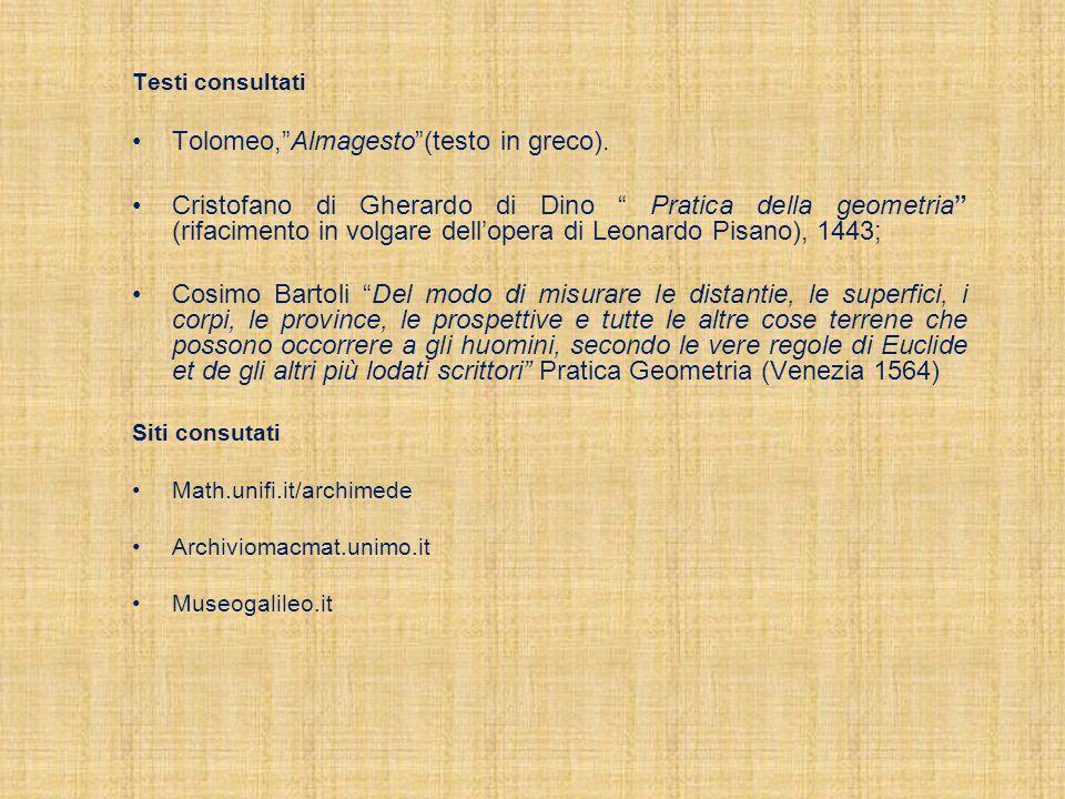Tolomeo, Almagesto (testo in greco).