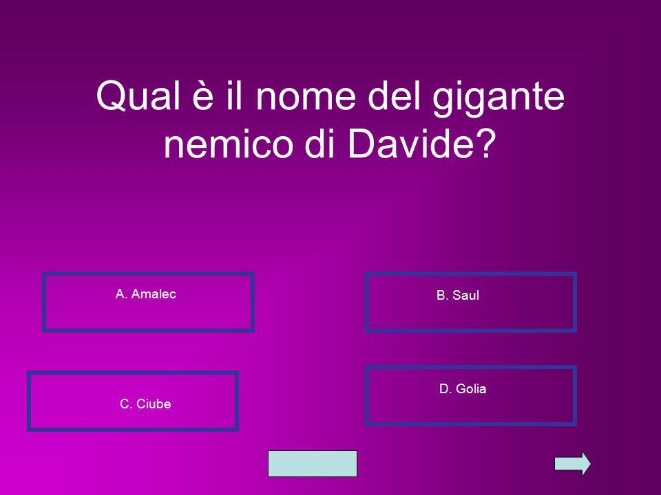 Qual è il nome del gigante nemico di Davide