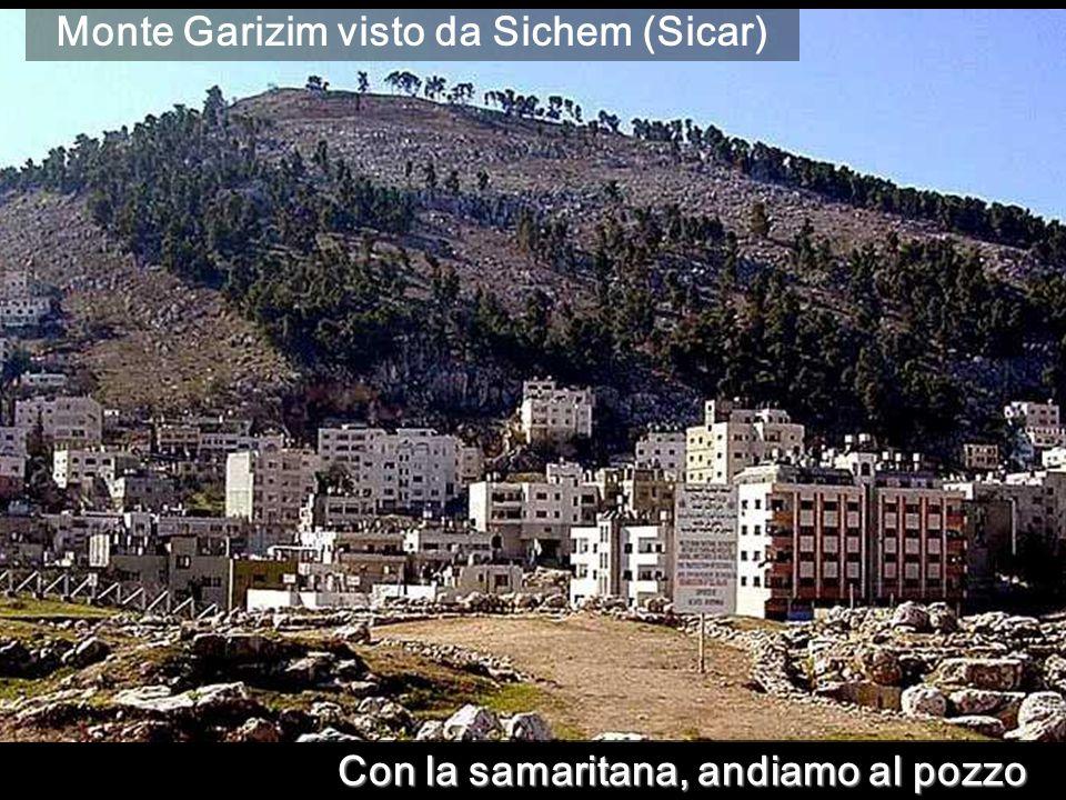 Monte Garizim visto da Sichem (Sicar)