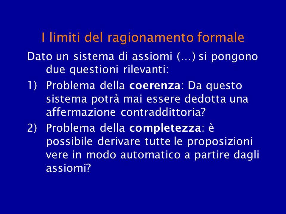I limiti del ragionamento formale